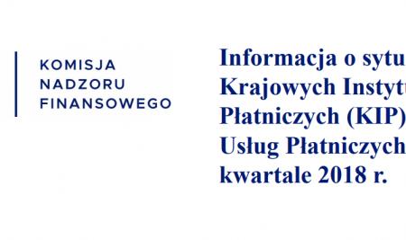 Raport KNF o Biurach Usług Płatniczych w II kwartale 2018 r.